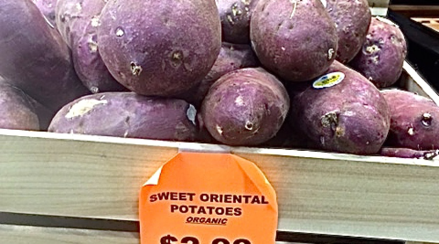 We love Asian sweet potatoes!