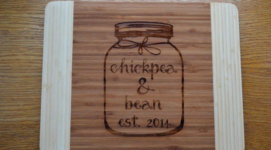 Our new personalized cutting board!