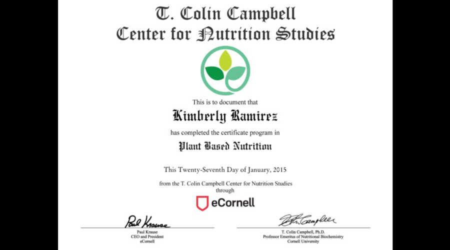 Plant Based Nutrition Certificate